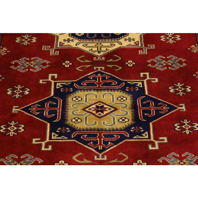 2000 - 2009 Sherwan James Red/Ivory Wool Rug - 4'1 X 5'10 For Sale - Image 5 of 8