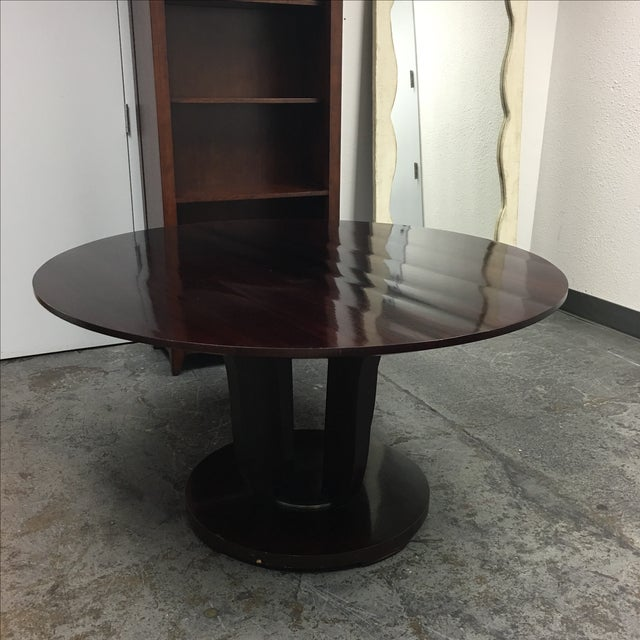 Barbara Barry Round Fluted Dining Table - Image 6 of 9