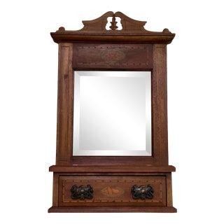 Antique Victorian Gentleman's Shaving/Dressing Mirror For Sale