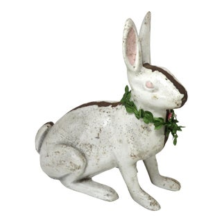 Large Vintage Cast Iron Bunny Rabbit Doorstop Circa 1930s For Sale