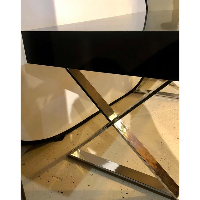 Mid-Century Modern Milo Baughman Vanity Desk For Sale - Image 9 of 13
