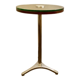Modern Chrome & Wood Accent Table/Side Table For Sale