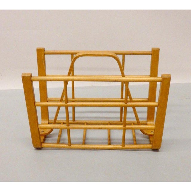 1950s Alvar Aalto Attributed Bent Wood Magazine Stand Rack For Sale - Image 5 of 6
