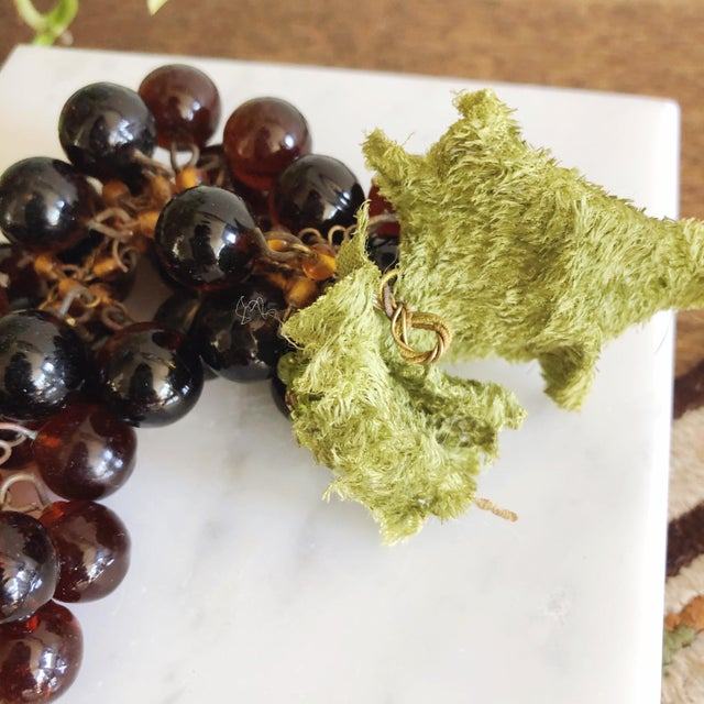 French Vintage French Glass Grape Cluster For Sale - Image 3 of 4