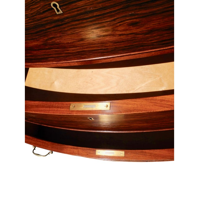 Danish Modern Danish Modern Tall Rosewood Bombe Dresser / Gentleman's Chest by Ole Wanscher For Sale - Image 3 of 12