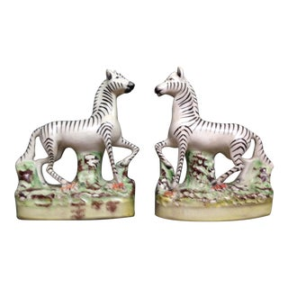 Antique English Staffordshire Figurines - a Pair For Sale