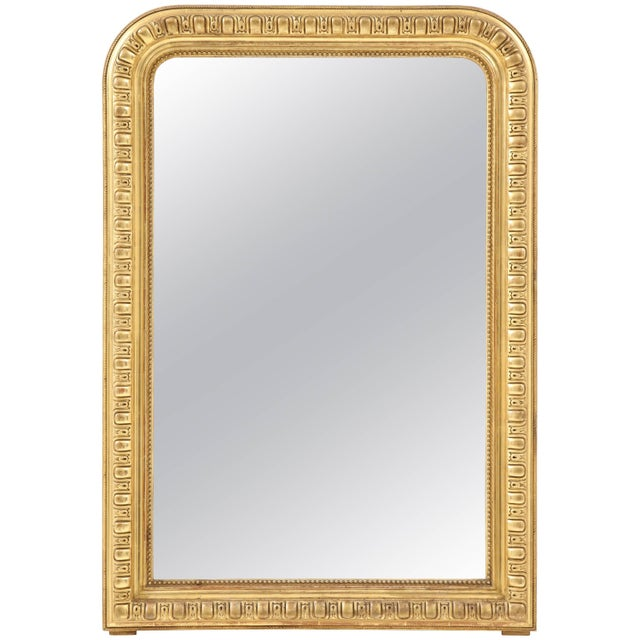 Giltwood Louis Philippe Mirror For Sale - Image 9 of 9