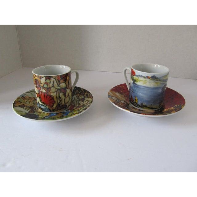 Yoryi Morel Arte de Cafe Limited Collection Cup Saucer Espresso Demitasse Set-4 Pieces For Sale - Image 4 of 5