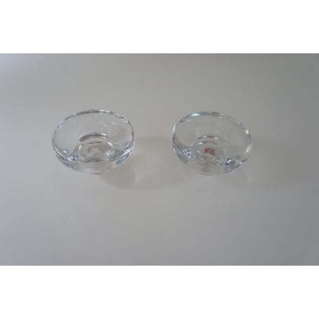 Metal Vintage Mid Century Modern Dansk Lead Crystal Votive and Taper Candle Holders - a Pair For Sale - Image 7 of 9