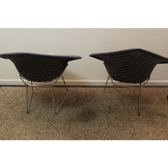 Bertoia Mid-Century Blue Diamond Chairs - Pair - Image 5 of 11