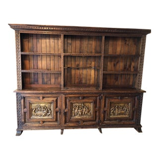Century-Old South American Oak Bookcase For Sale