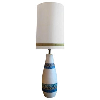 Mid-Century Modern Table Lamp by Aldo Londi for Bitossi with Shade For Sale