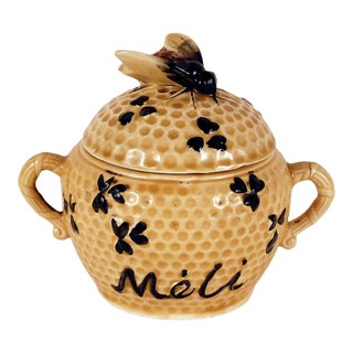 1940s Vintage French Honey Pot For Sale