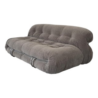 """Afra & Tobia Scarpa """"Soriana"""" Two Seat Sofa for Cassina For Sale"""