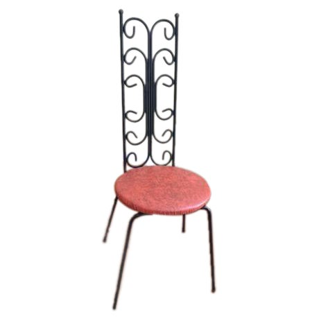 Salterini Style MCM Vintage Wrought Iron Chair - Image 1 of 6