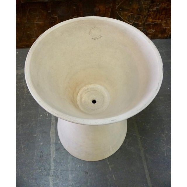 """Double cone,bisque,stamped """"Architectural Pottery.Great overall condition."""