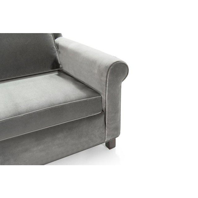 Gray Edward Wormley for Dunbar Model 580 Velvet Sofa For Sale - Image 8 of 11