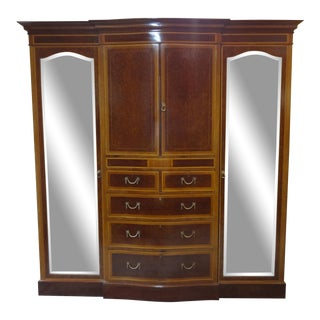 1980s French Style Satinwood Wardrobe For Sale