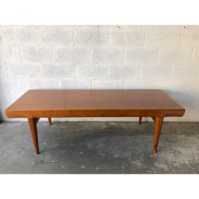 Mid-Century Modern Vintage Mid Century Danish Modern Johannes Andersen Coffee Table for C F C Silkeborg For Sale - Image 3 of 13