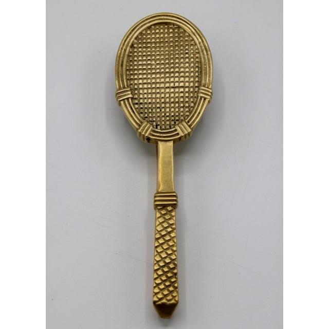 Vintage Solid Brass Tennis Racket Door Knocker For Sale - Image 11 of 11