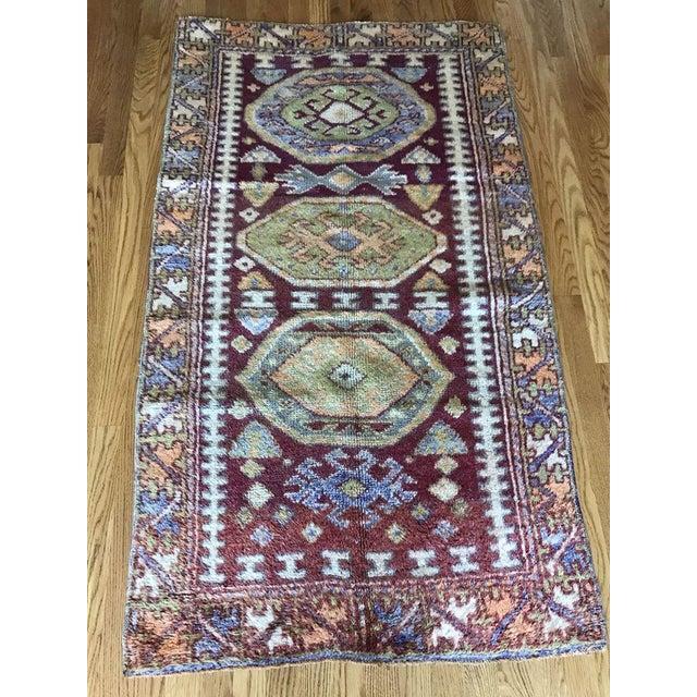 """Bellwether Rugs Vintage Turkish """"Melanie"""" Rug - 5'x2'9"""" For Sale In Atlanta - Image 6 of 6"""