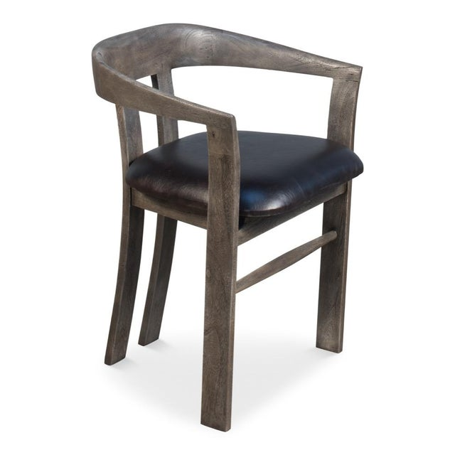 Gray Sarreid Ltd Rift Dining Chair For Sale - Image 8 of 8
