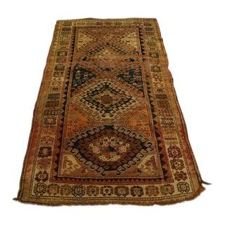 "Antique Persian Wool Rug - 4'-3"" X 7'-7"""