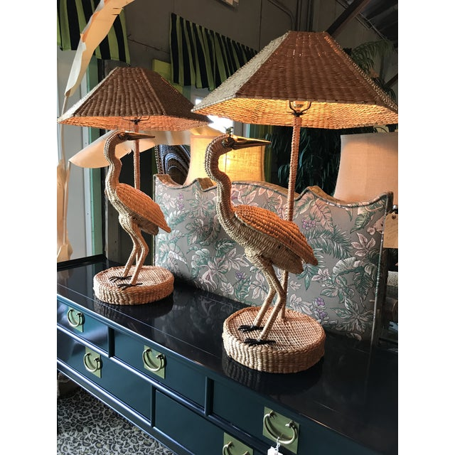 Mario Lopez Torres Heron Lamps-Pair For Sale - Image 6 of 12