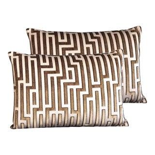 Kravet Couture Cut Velvet Pillows - Set of 2 For Sale