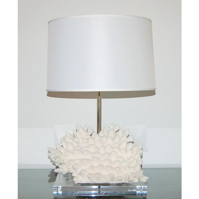 2000 - 2009 Coral Finger Table Lamp White For Sale - Image 5 of 9