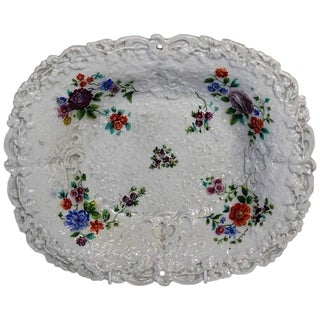 19th Century Victorian Meissen Shaped Fruit Dish