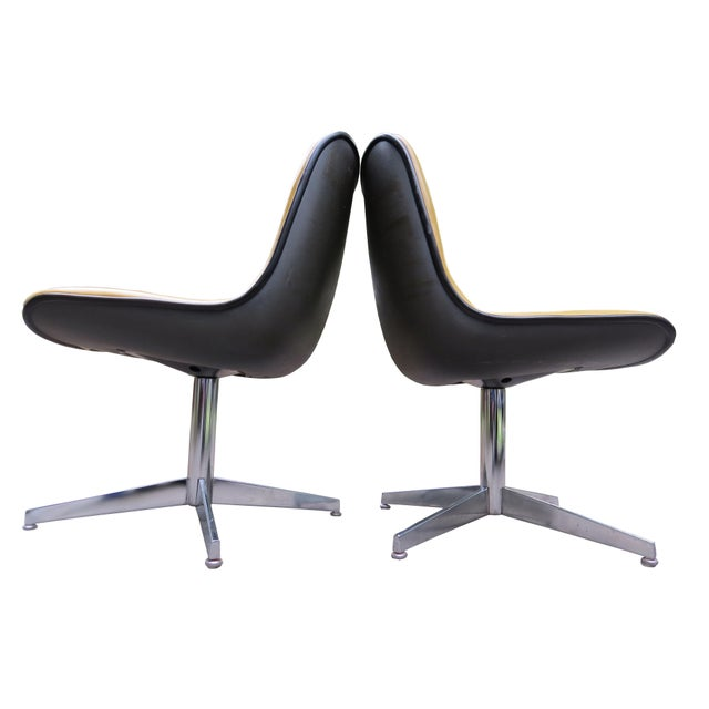 Chrome Vintage Steelcase Swivel Chairs - A Pair For Sale - Image 7 of 13