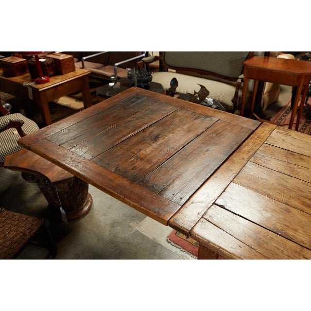 French Country Dining Table With Pull Out Leaves For Sale - Image 9 of 12