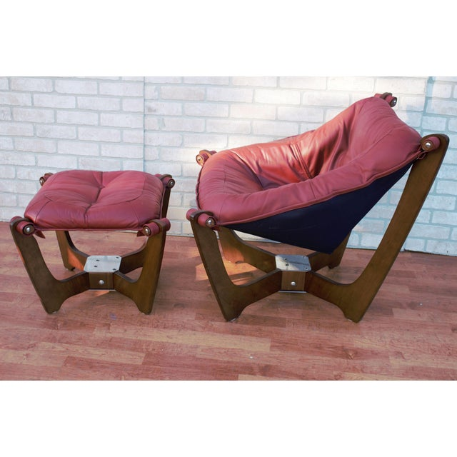 Mid Century Modern Odd Knutsen Luna Lounge Chair and Ottoman For Sale - Image 13 of 13