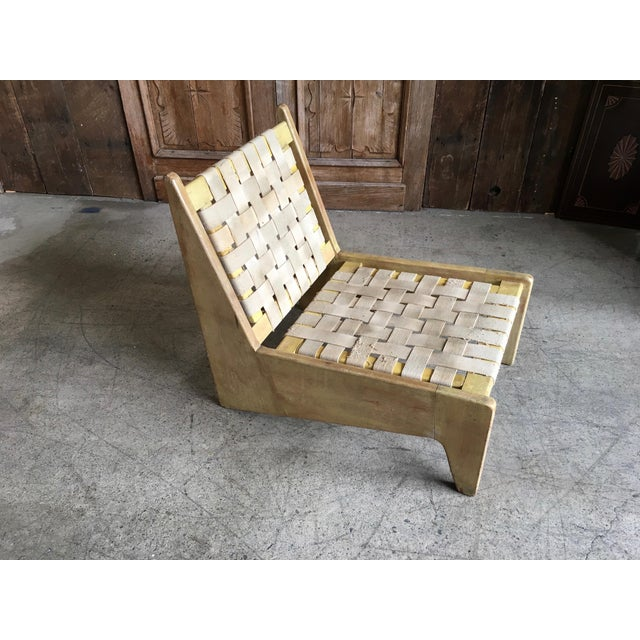 Architectural Modernist Slipper Chair For Sale - Image 5 of 7