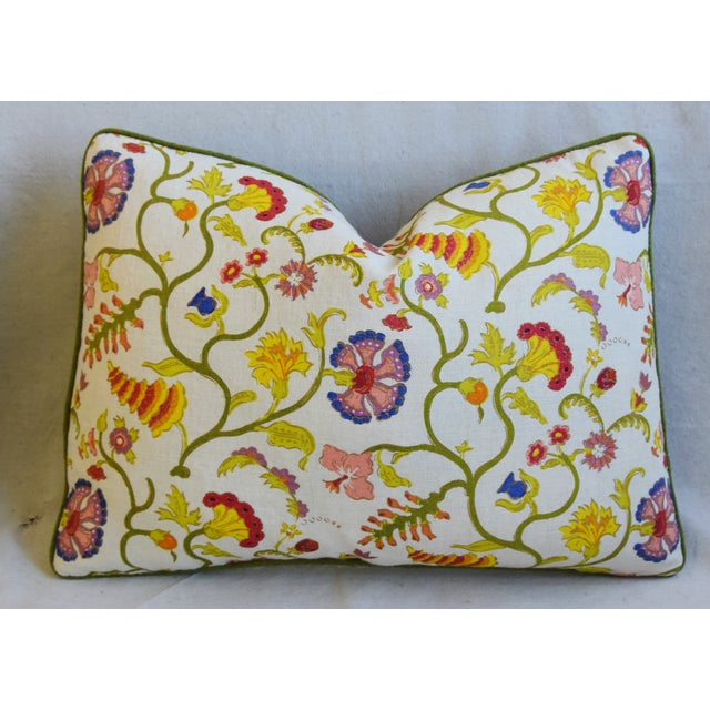 """Early 21st Century Designer Floral Raoul & Scalamadre Mohair Pillows 23"""" X 16"""" - Pair For Sale - Image 5 of 13"""