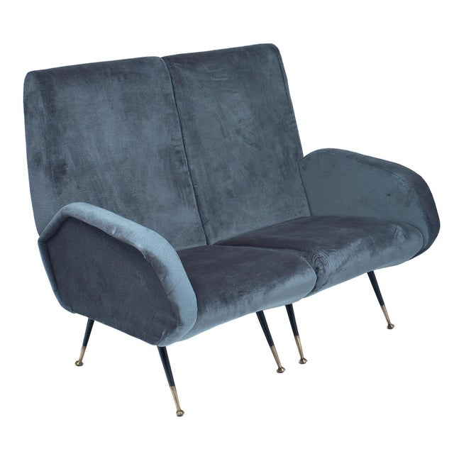 1950s Italian Mid-Century Sectional Sofa - Set of 5 For Sale In Austin - Image 6 of 12