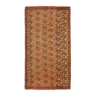 Late 19th Century Antique Senneh Traditional Wool Persian Rug- 2′ × 3′8″ For Sale