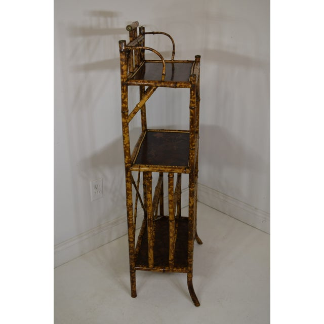 Late 19th Century 19th-Century Bamboo Book Shelf and Magazine Rack For Sale - Image 5 of 8