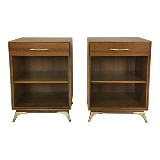 Mid Century Pair of Rway Mahogany Bedside Tables For Sale