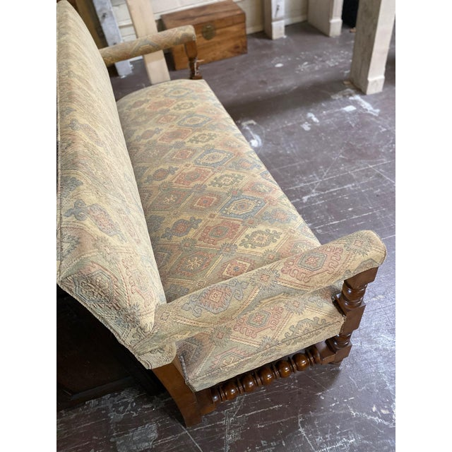 Late 19th Century Antique French Upholstered Bench For Sale - Image 5 of 6