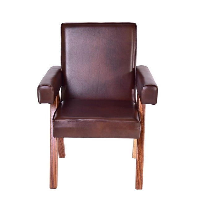 Mid-Century Modern Inspire Leather Dining Chair - Image 2 of 3