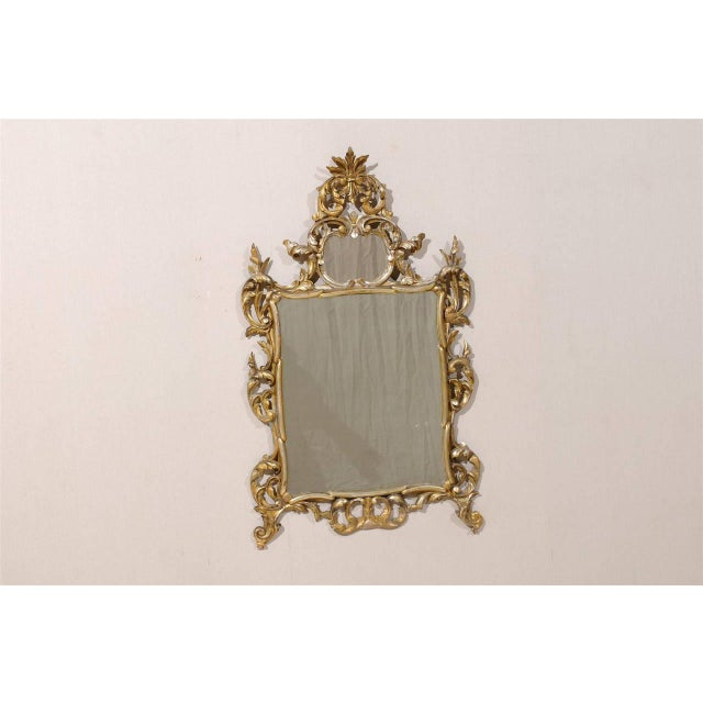 Italian Early 20th Century Italian Gold and Silver Gilt Mirror For Sale - Image 3 of 11