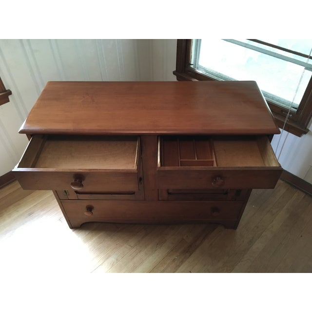Americana 1940s Colonial American Style Maple Buffet Cabinet For Sale - Image 3 of 6