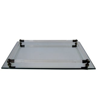 Mirrored Glass Vanity Tray For Sale