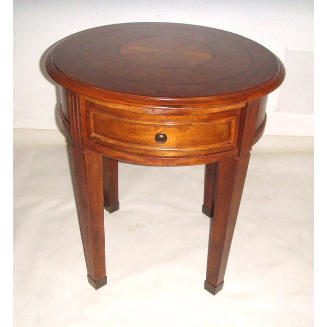 Round Side Table with Inlaid Top - Image 2 of 7