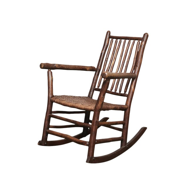 1930s Old Hickory Rocking Chair - Image 1 of 10 - Fine 1930s Old Hickory Rocking Chair DECASO