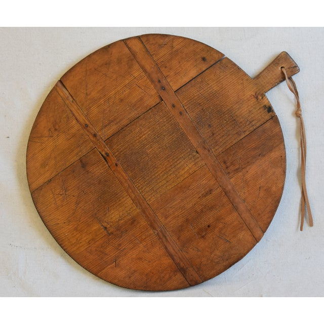 Antique French Pine Charcuterie Bread Cheese Serving Tray Board For Sale - Image 4 of 9