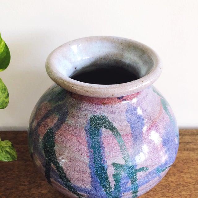 Mid-Century Modern Vintage Studio Art Ceramic Vase For Sale - Image 3 of 6