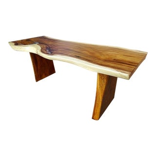 One of a Kind Suar Teak Slab Epoxy Resin Dining Table For Sale